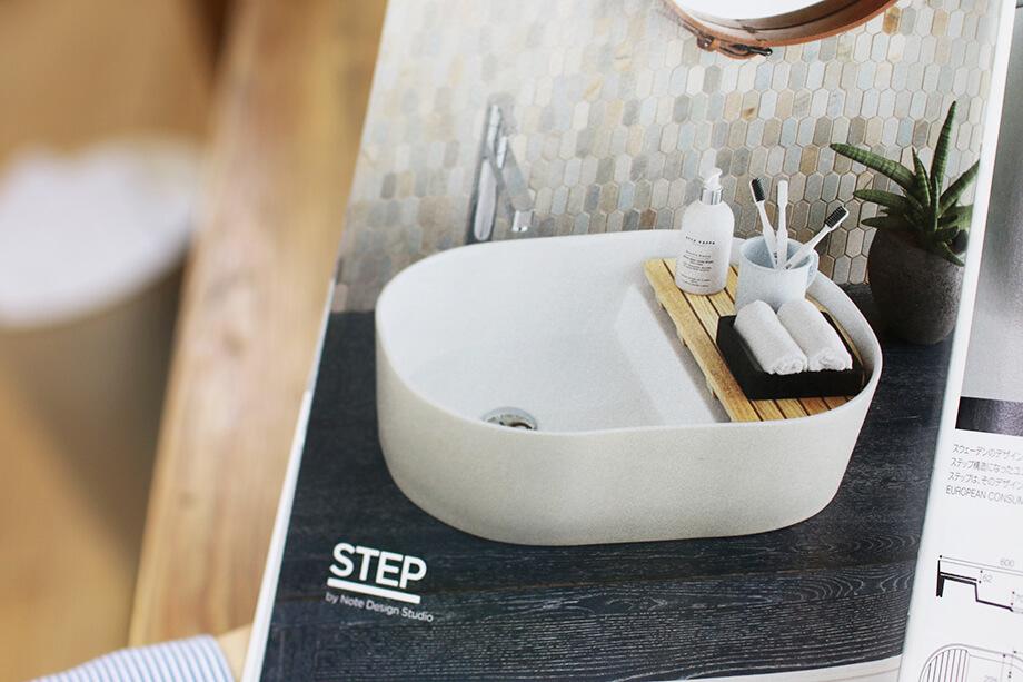 シンプルだけどひとクセありの洗面台