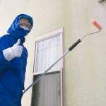 お施主様が外壁洗浄に挑戦
