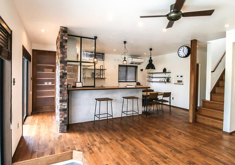 注文住宅レポート#025 掛川市中K様邸 「リビングに土間のあるインダストリアルデザインの家」