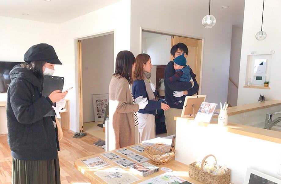 見学会1日目の様子* -掛川市紅葉台の30坪のお家-