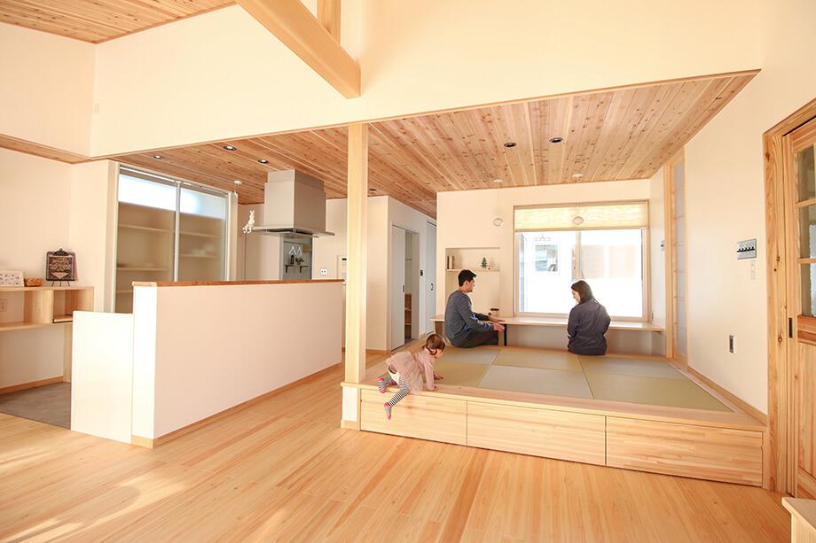 「勾配天井リビングと中庭のある平屋」 菊川市西方W様邸 注文住宅レポート#036