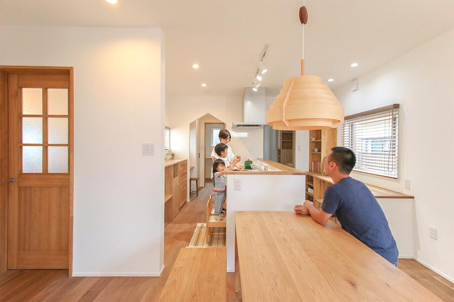 「キッチンが中心の 家事動線がスムーズなお家」 掛川市宮脇N様邸 注文住宅レポート#040