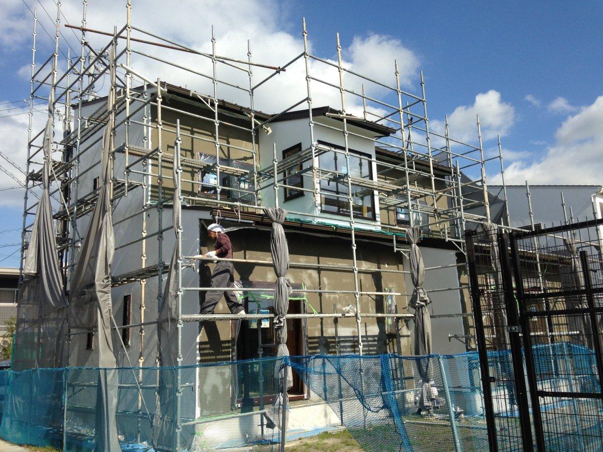 外壁の漆喰塗装☆掛川市紅葉台T様邸