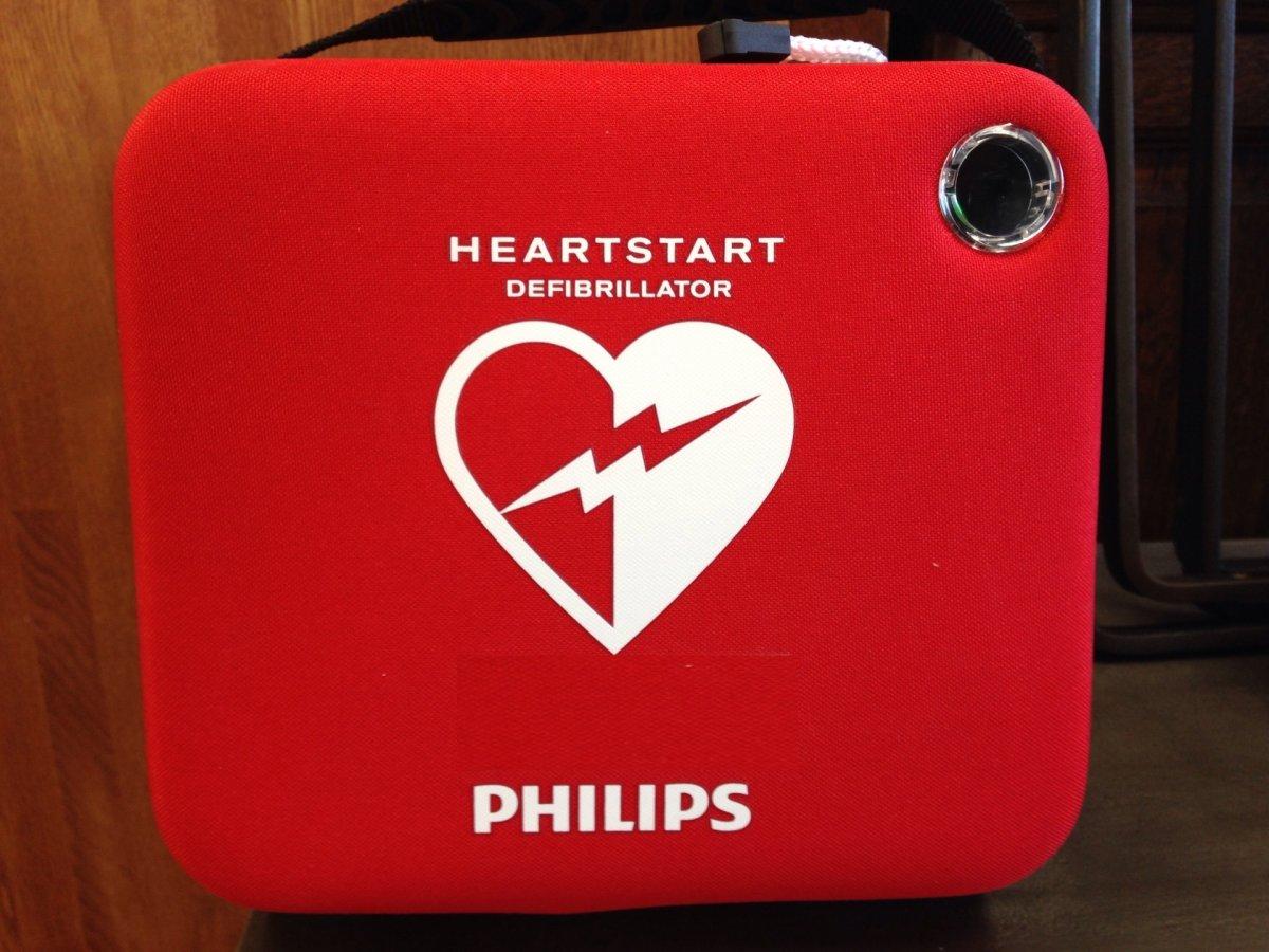 スタッフや地域の仲間を守るために* AED設置店になりました