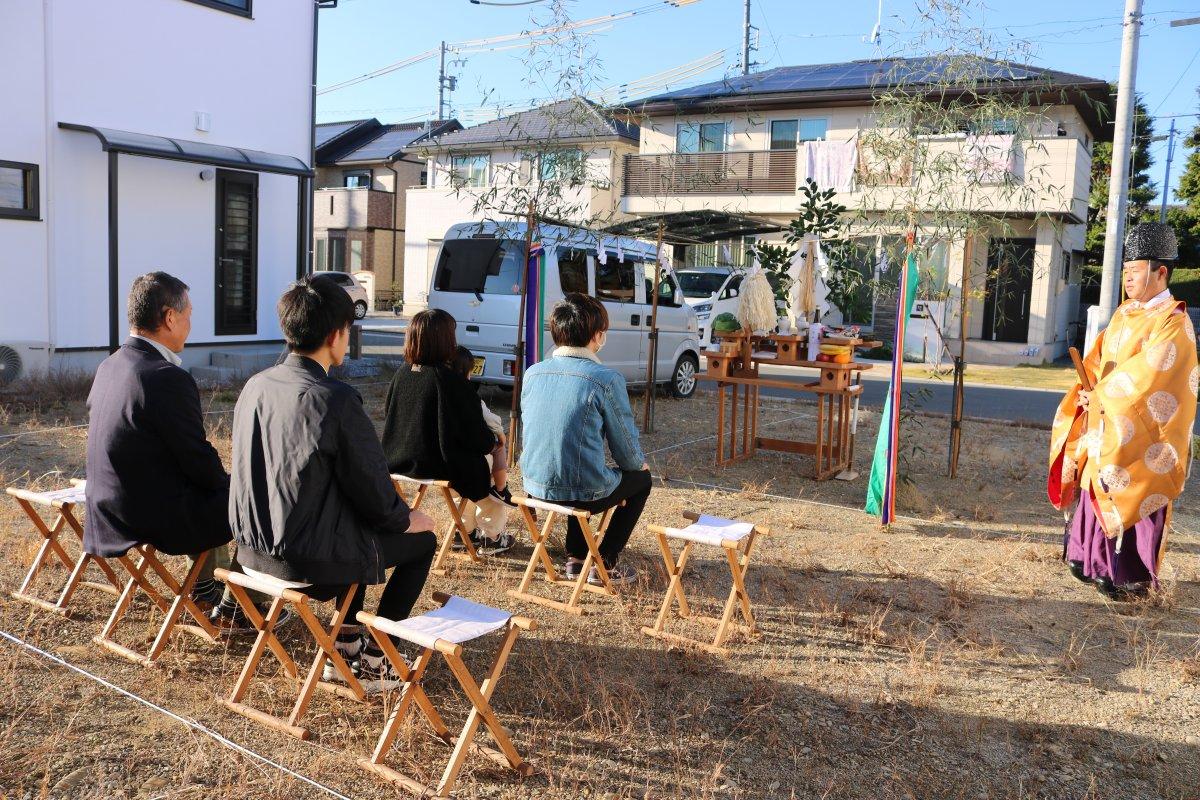 心地良いお天気の中* 地鎮祭 -菊川市加茂M様邸-