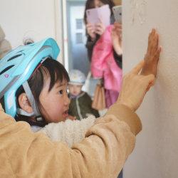 思い出に漆喰の手形付け* -掛川市成滝S様Y様邸-