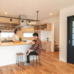 注文住宅レポート#047 菊川市加茂M様邸 「コの字型キッチンのお家」