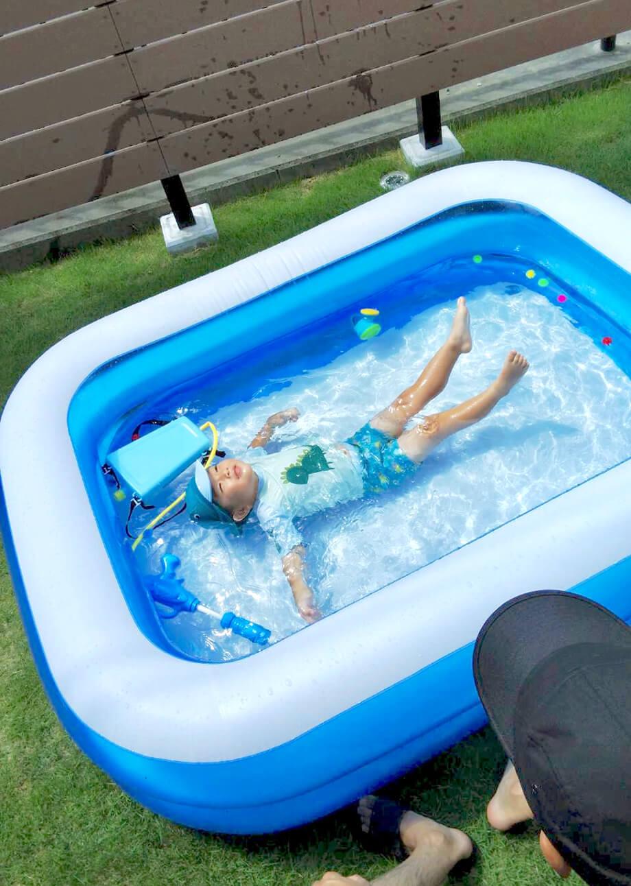 「今日は我が家のプール開きです♪」