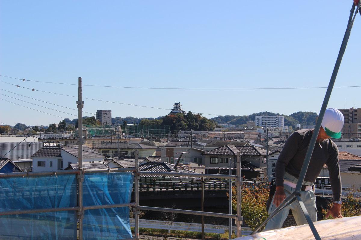 掛川城が見えるお家
