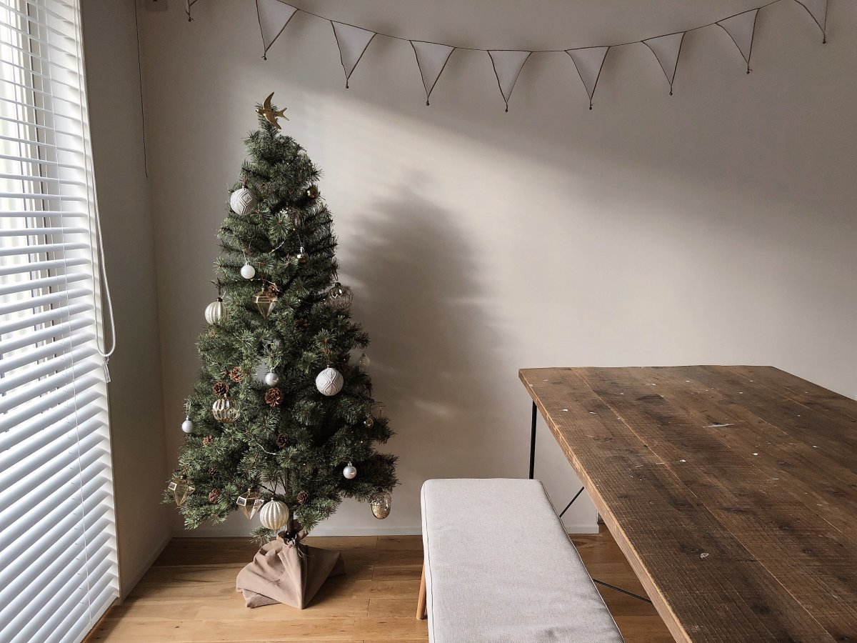 クリスマスツリーを出しました*季節ごとに変わる家