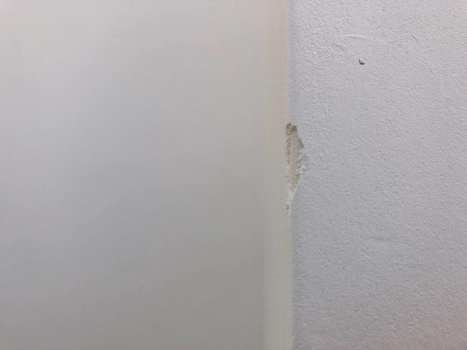 漆喰の壁を補修しました*①