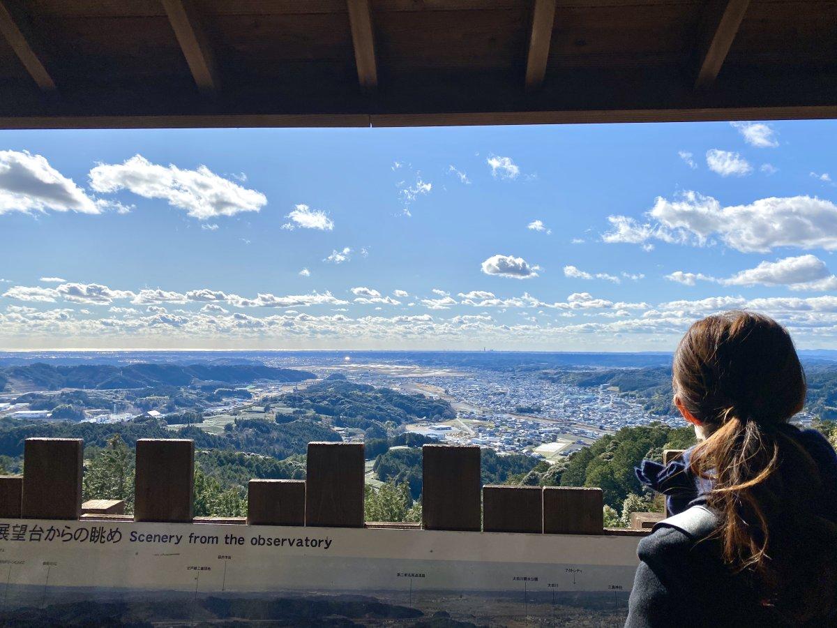 景色を見ながらピクニック