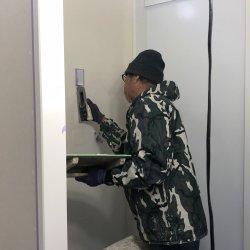 漆喰塗りはじまっています☆ 掛川市紅葉台M様邸