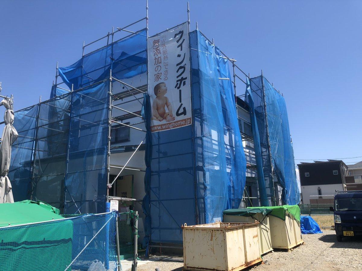 外壁の左官工事☆ 菊川市加茂F様邸