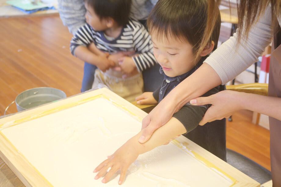 お家づくりの思い出に* -菊川市小沢I様邸- 漆喰手形付けをしました!