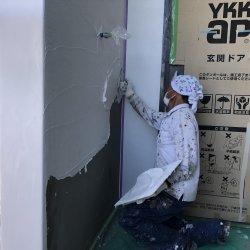 外壁の漆喰塗りが始まりました☆ 菊川市三沢K様邸