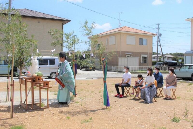 ご近所で続いていくお付き合い♪ 【菊川市加茂Y様邸 地鎮祭】