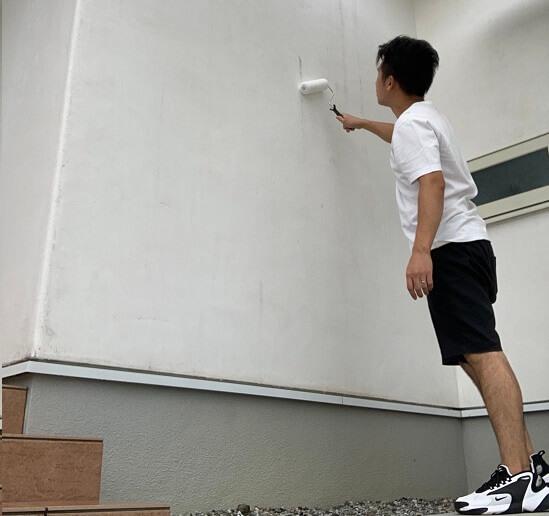 初めての外壁洗浄に挑戦
