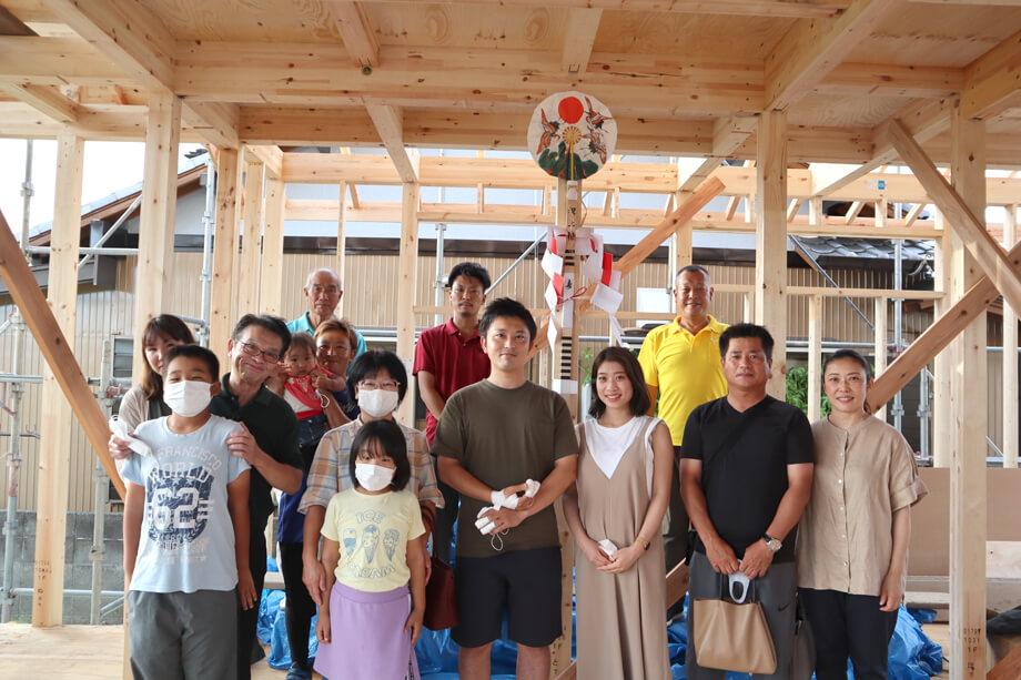 ご家族に祝福されて。。。✧ -掛川市下垂木S様邸- 上棟しました*