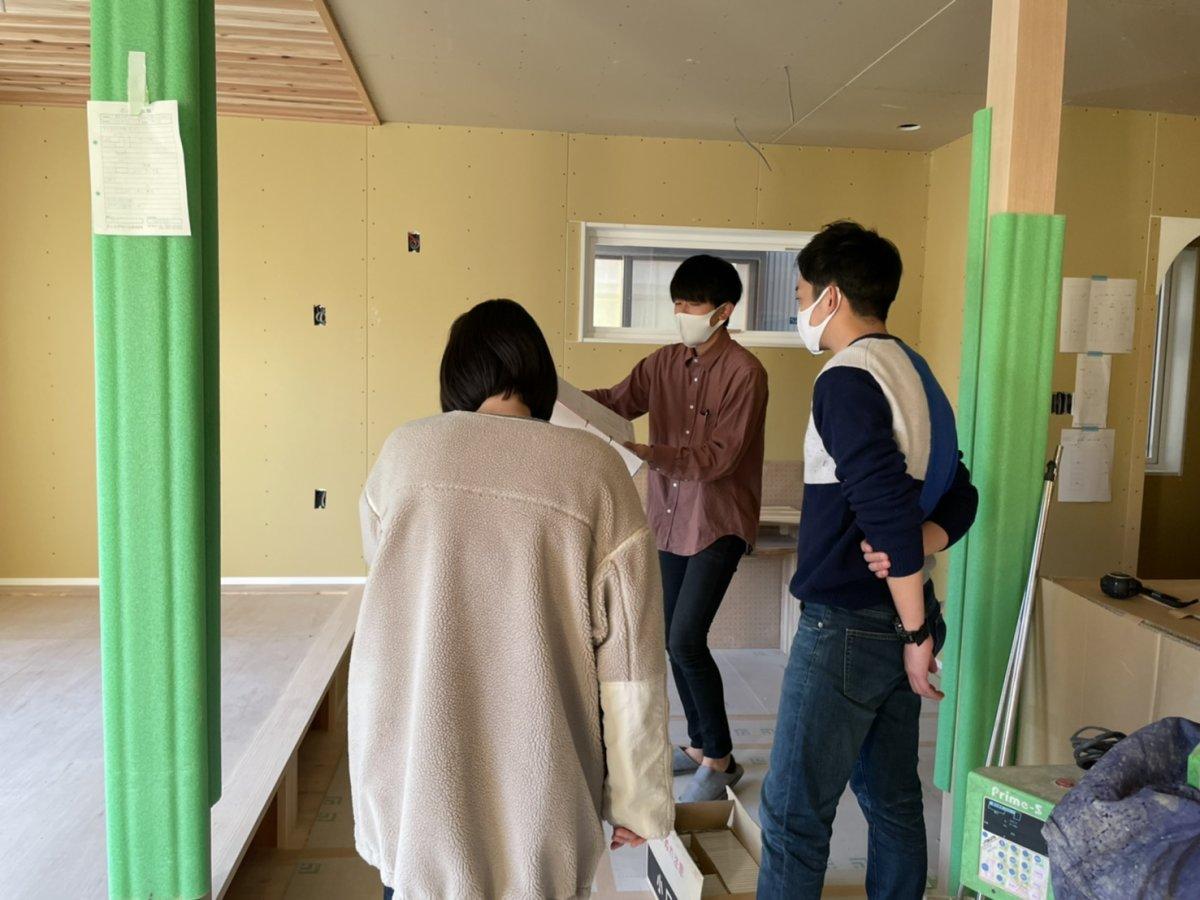 仕上げ前の確認と現場の進捗* 菊川市河東S様邸