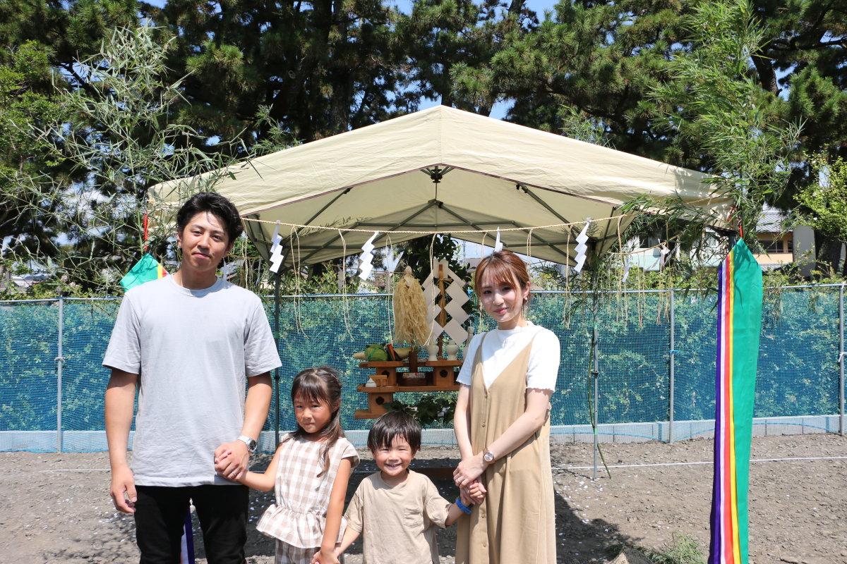夏空と松林☀ -吉田町住吉 T様邸地鎮祭-